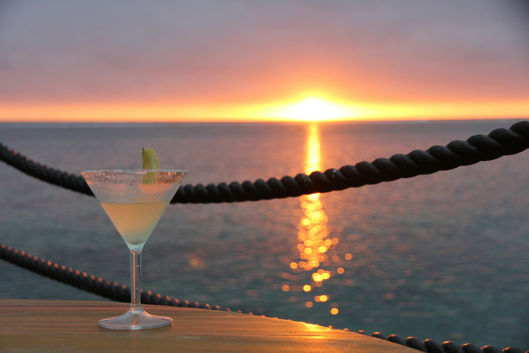 Cocktails while on retreat